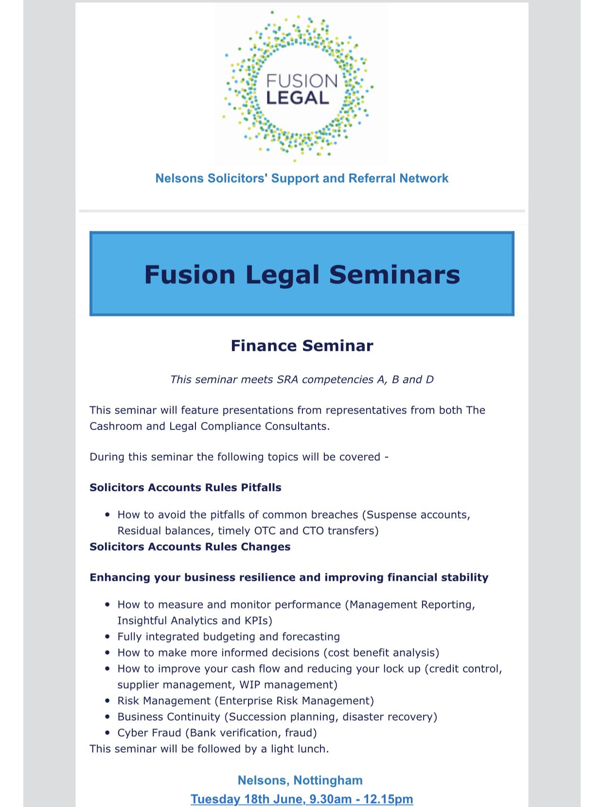 Fusion Legal Seminar -June 2019